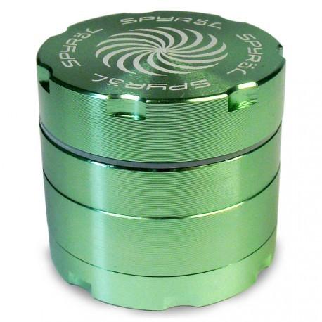 SPYRÄL Grinder Alu CNC Grinder 4-Part Innen Silber - Durchmesser / Farbe : 40 mm/Grün