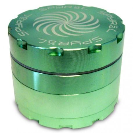 SPYRÄL Grinder Alu CNC Grinder 4-Part Innen Silber - Durchmesser / Farbe : 62 mm/Grün