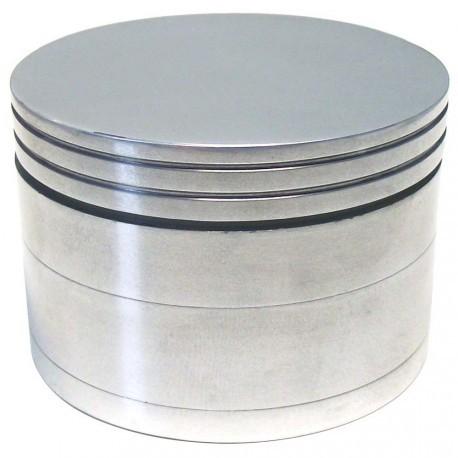 """Alu Grinder """"Pantographisch"""" 4-Part Innen Silber - Durchmesser / Farbe : 63mm/Silber"""