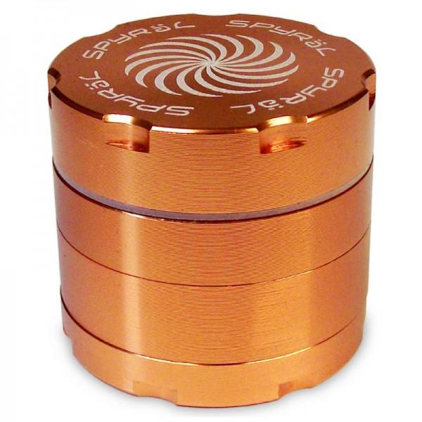 SPYRÄL Grinder Alu CNC Grinder 4-Part Innen Silber - Durchmesser / Farbe : 62 mm/Orange