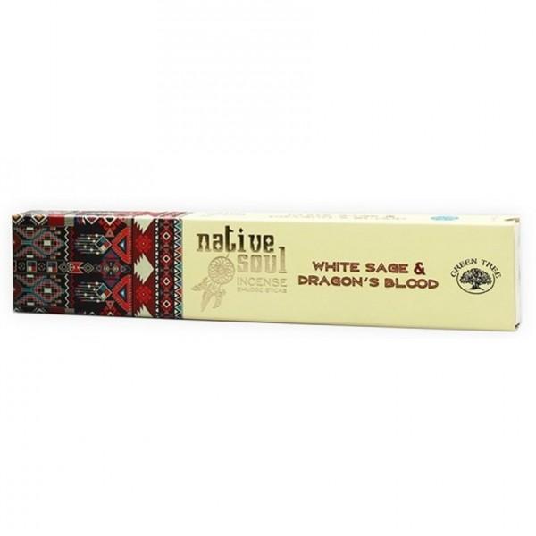 "Green Tree Native Soul Incense ""White Sage & Dragons Blood"" 15gr."