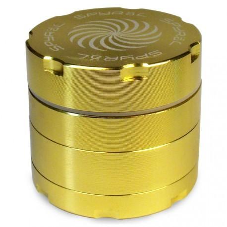 SPYRÄL Grinder Alu CNC Grinder 4-Part Innen Silber - Durchmesser / Farbe : 40 mm/Gold