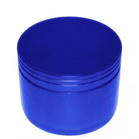 """Alu Grinder """"Pantographisch"""" 4-Part Innen Silber - Durchmesser / Farbe : 40 mm/Blau"""