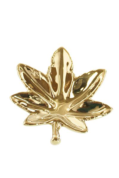 CHAMP High Leaf Porzellan Aschenbecher, Gold
