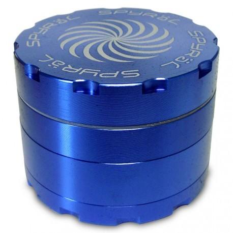 SPYRÄL Grinder Alu CNC Grinder 4-Part Innen Silber - Durchmesser / Farbe : 55 mm/Blau