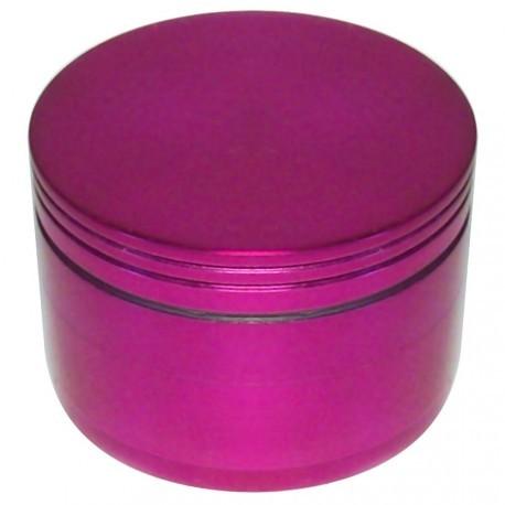 """Alu Grinder """"Pantographisch"""" 4-Part Innen Silber - Durchmesser / Farbe : 56 mm/Rosa"""