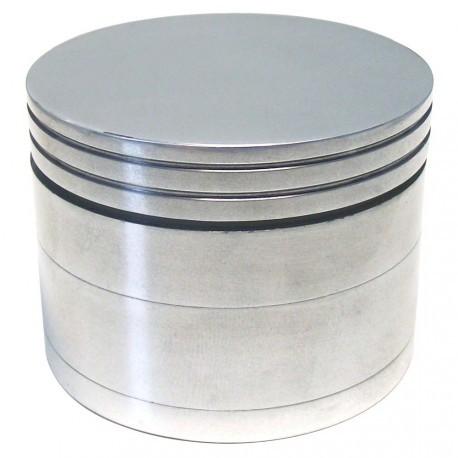 """Alu Grinder """"Pantographisch"""" 4-Part Innen Silber - Durchmesser / Farbe : 56 mm/Silber"""