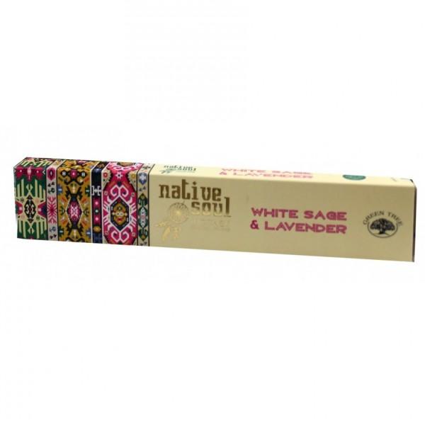 """Green Tree Native Soul Incense """"White Sage & Lavender"""" 15gr."""